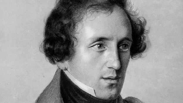 Zeichnung von Felix Mendelssohn
