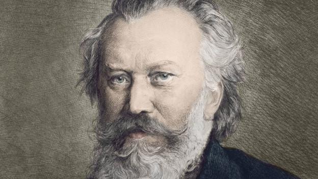 Zeichnung von Johannes Brahms