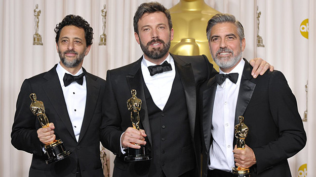 Oscar für den besten Film: Grant Heslov, Ben Affleck und George Clooney (von links) mit «Argo».