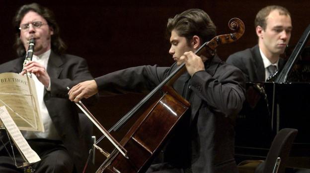 Klarinettist Reto Bieri (links) war 2001 selbst Gast am Davos Festival.
