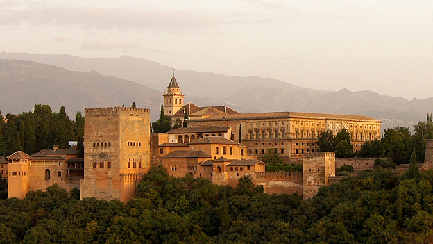 Ansicht des Maurischen Palasts «Alhambra» in Granada.