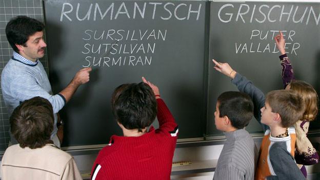 Hat es schwer an Bündner Schulen: die rätoromanische Einheitssprache Rumantsch Grischun.