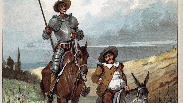 Zeichnung von Don Quijote