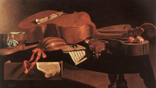 Gemalte Musikinstrumente