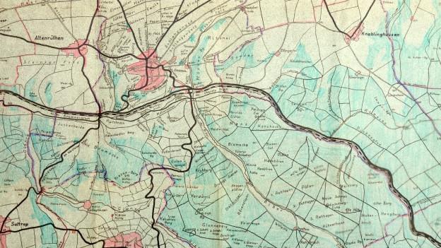Historische Flurnamenkarte von Rüthen in Westfalen
