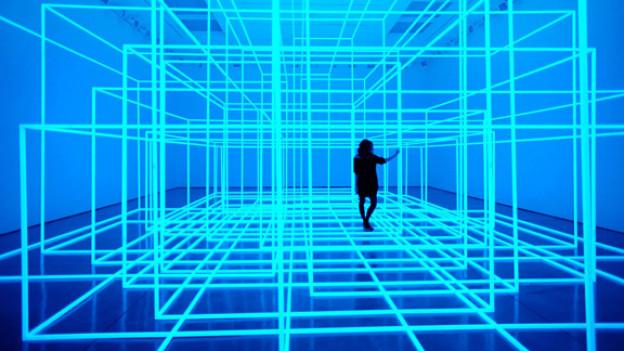 Getrennt und doch durchlässig: ‹Breathing Room III› von Antony Gormley.