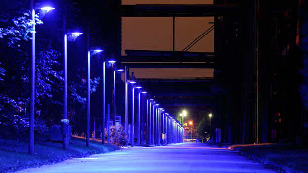 Der Stadtteil Essen Werden bei Nacht