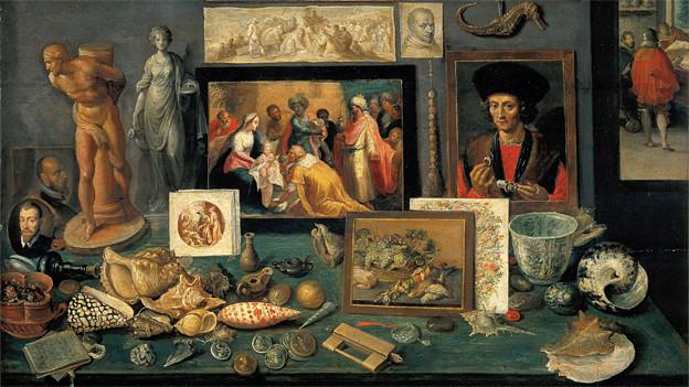 Kunst- und Raritätenkammer, gemalt von Franz Francken dem Jüngeren, 1636.