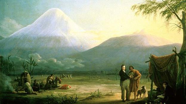 Alexander von Humboldt und Aimé Bonpland am Fuß des Vulkans Chimborazo von F.G. Weitsc