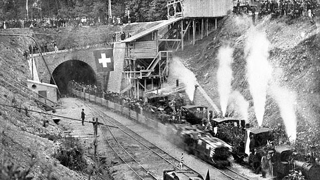 Durchschlagfeier Nordportal 1914