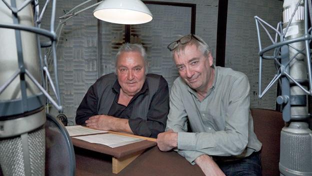Der querköpfige Privatdetektiv Franz Musil alias Ueli Jäggi (rechts) und sein Lieblingsfeind Polizeileutnant Linder alias Mathias Gnädinger.