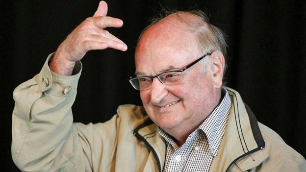 Der Schweizer Mundart Schriftsteller Ernst Burren an den 33. Solothurner Literaturtagen, am Sonntag, 5. Juni 2011, in Solothurn.
