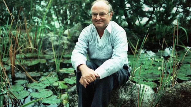 Ernst Burren, Schriftsteller und Mundartlyriker verfasst seine Werke ausschliesslich in Solothurner Mundart.