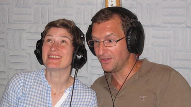 Yvon Jansen (Louise Janvier) und Sigfried Terpoorten (Léon Le Gall) im Studio.