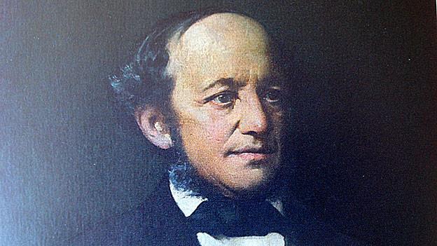 Auf Leinwand gemaltes Porträt von Jonas Breitenstein.