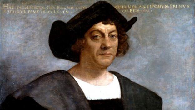 Posthumes Portrait von Christoph Kolumbus von Sebastiano del Piombo.