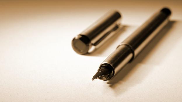 Stift für eine Unterschrift