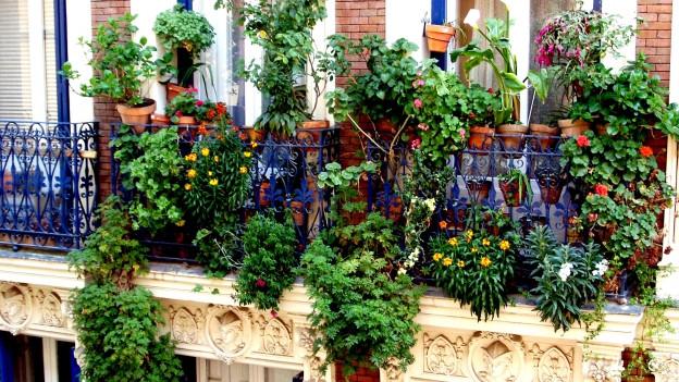 Balkon in Spanien.