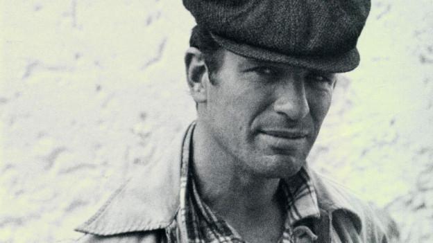 Schwarz-Weiss-Porträt von Jack Kerouac.