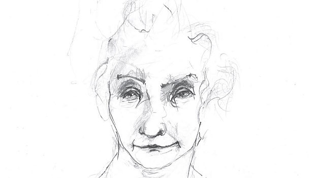 Zeichnung aus dem Buch «Ich bin a beesi Frau»
