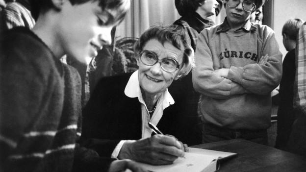 Astrid Lindgren in Zürich (1984).
