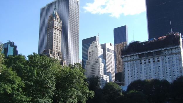 Schauplatz der Geschichte: Manhattan, Blick vom Central Park.