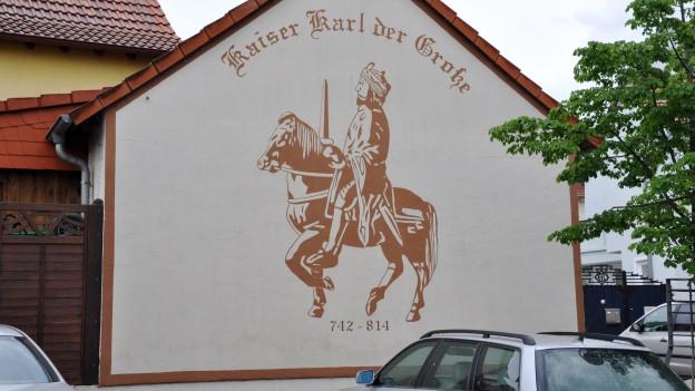 War viel unterwegs: Karl der Grosse – hier in Ingelheim am Rhein
