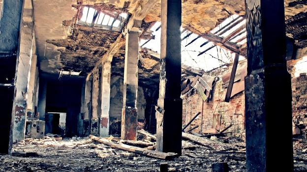Zerfallenes Gebäude