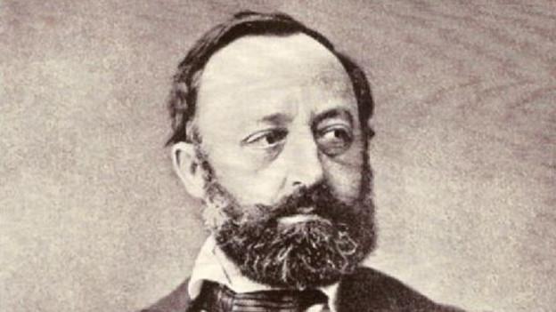 Gottfried Keller um 1870.