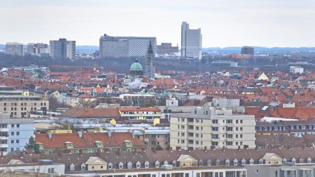 Blick über München.