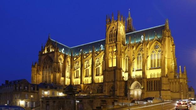 Kathedrale in Metz, einer der Stationen von Wolfgang Koeppen.