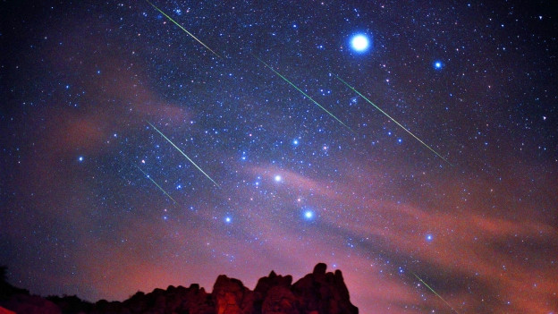 Sternenhimmel in der Nacht.