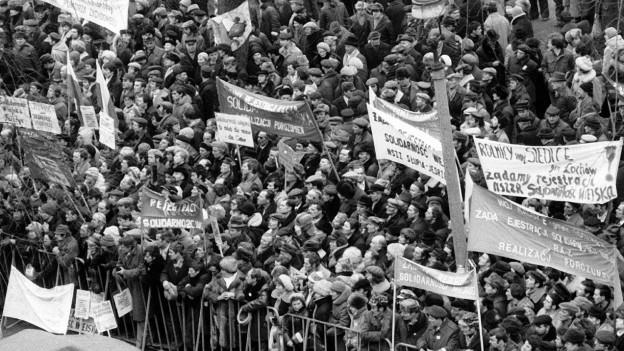 Aufstand in Warschau Februar 1981