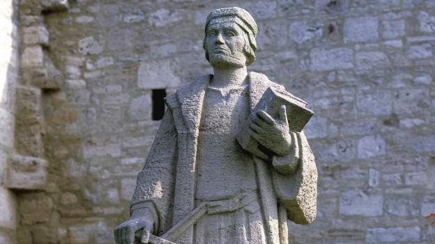 Statue von Thomas Müntzer in Mülhausen