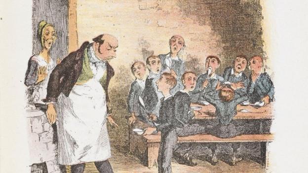 Oliver Twist im Heim. Er will mehr.