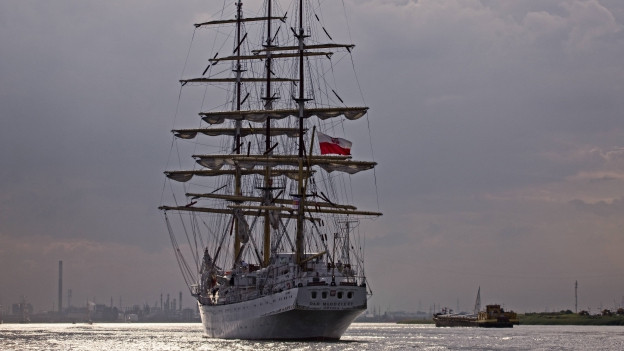 Foto von einer Windjammer bei Antwerpen