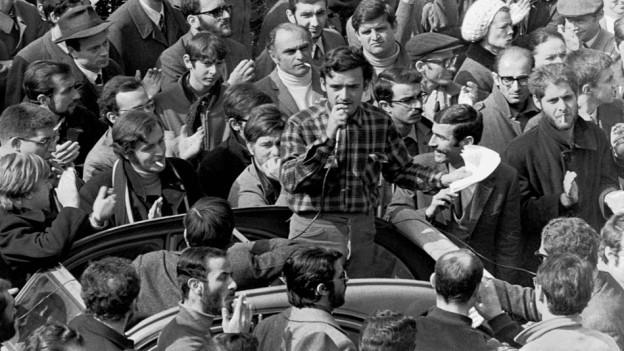 1968er-Studentenversammlung in Rom.