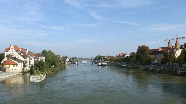 Die Donau in Regensburg.