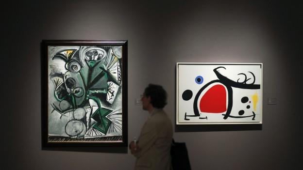 Wären sie nicht von Picasso, wäre es so berühmt? Picassobilder während einer Auktion in New York.