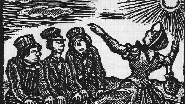 Züs Bünzlin (gesprochen von Rahel Hubacher) hält ihre Abschiedspredigt.