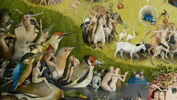 Ausschnitt «Der Garten der Lüste» von Hieronymus Bosch.