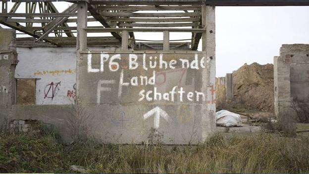Ein LPG in Ostdeutschland.