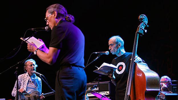 Die Jazzgruppe OM 2008 bei einem Auftritt in Willisau.