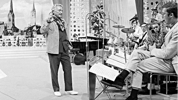 Teddy Stauffer 1969 bei einem Auftritt im ZDF.