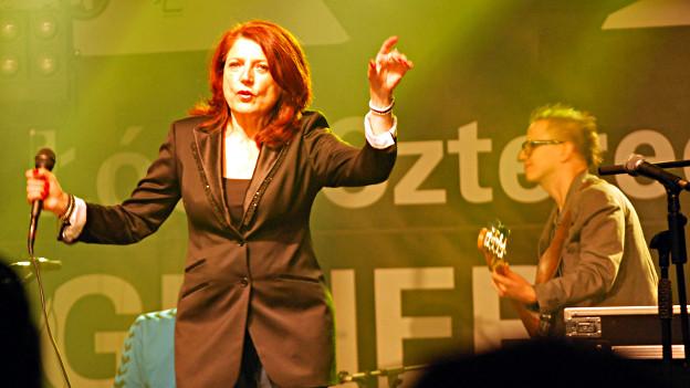Urszula Dudziak bei einem Auftritt in Lodz 2012.