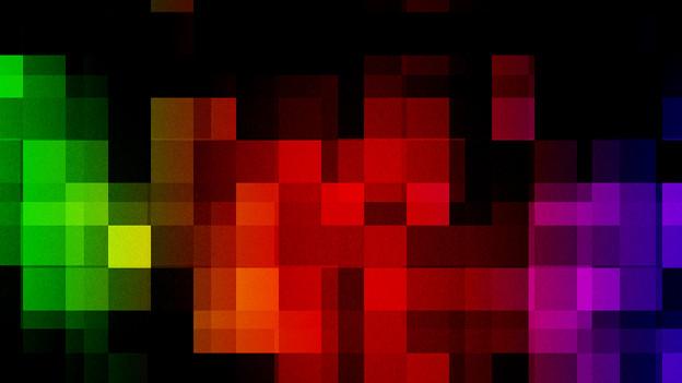 Farbige Pixel.