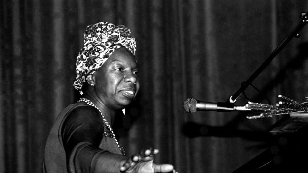 Nina Simone - hier an einem Konzert in Frankreich 1982.