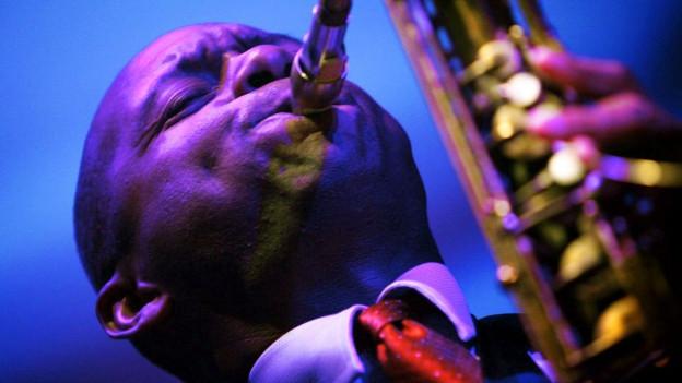 Der Saxofonist Branford Marsalis bei einem Konzert