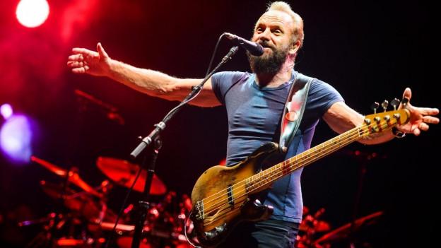 Sänger Sting während eines Konzertes.