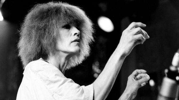 Portrait von Carla Bley am Jazz Festival in Montreux 1984.